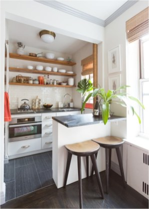 Simple Small Kitchen With Open Shelf