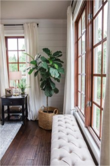 Wood Window With Curtains Ideas