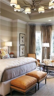 Luxury Stripes Bedroom Ideas With Chandelier