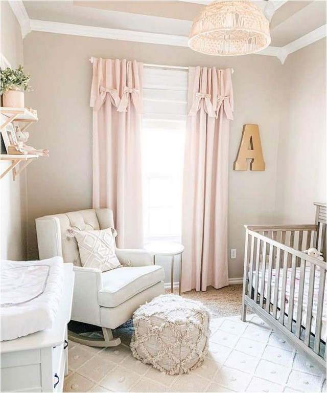 Pink Curtain Babies Bedroom Decorations
