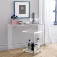 Transparent Acrylic for a Charming Minimalist Dresser