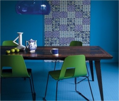Balanced For Dining Room With All Blue Theme
