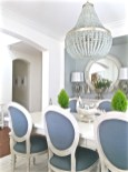 Blue And White Bright Dining Room