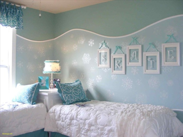 Blue Color Domination for Girls' Bedroom with Fairytale Theme