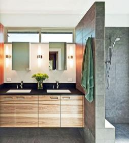 Contemporary for Stunning Lighting in Modern Minimalist Bathroom