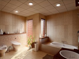 Focus Point for Stunning Lighting in Modern Minimalist Bathroom