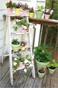 Ladder With Pastel Color Pot