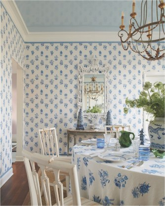 Matching Pattern Dining Room