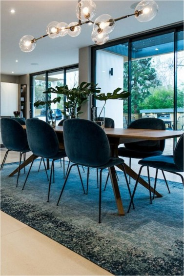 Modern Dining Room With Modern Pendant
