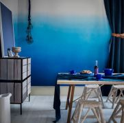 Soothing Impression for Dining Room with All-Blue Theme