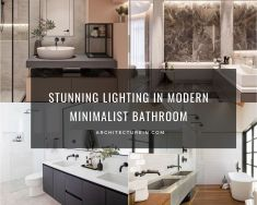Stunning Lighting In Modern Minimalist Bathroom