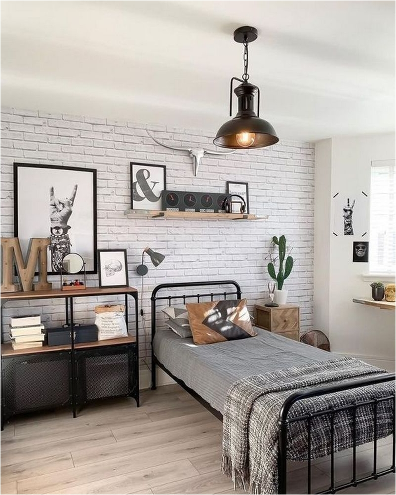 The bed in this room is flanked on. 18 Aesthetic Industrial Boys Bedroom Ideas Architecturein