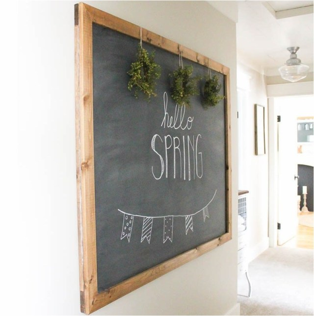 Chalkboard For Unique Bedroom Decoration From Used Goods