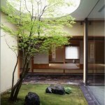 Courtyard Japanese Style With Sliding Door