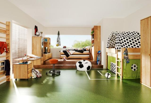 Football for Various Unique Designs for Boys' Bedrooms