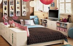 Storage Space for Decorating Teens Bedroom
