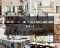 Unique Ceiling Design With Wooden Beams