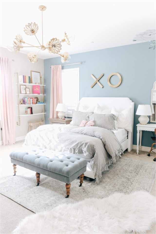 Soft Blue And Ash Grey Bedroom