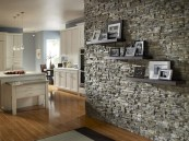 Love A Stone Accent Wall, Or Stone Under A Kitchen Island