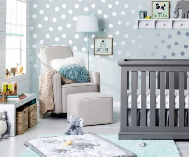Nursery Ideas Inspiration Grey Polka Dot Boy Room Nursery Decor