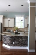 Stone Base Kitchen Island
