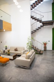 Corten Cube House - Ghaziabad -105 degrees