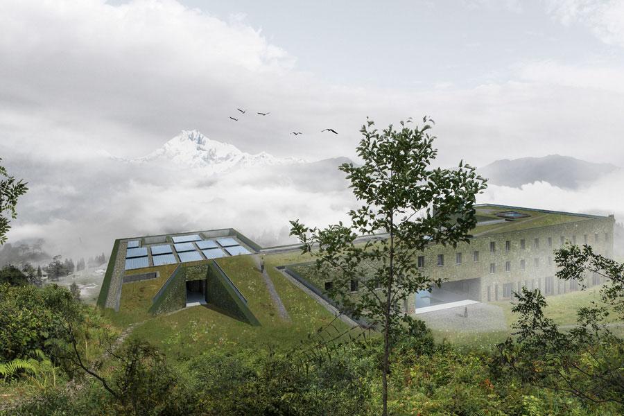 Biodiversity training institute at Sikkim, Architecture Brio
