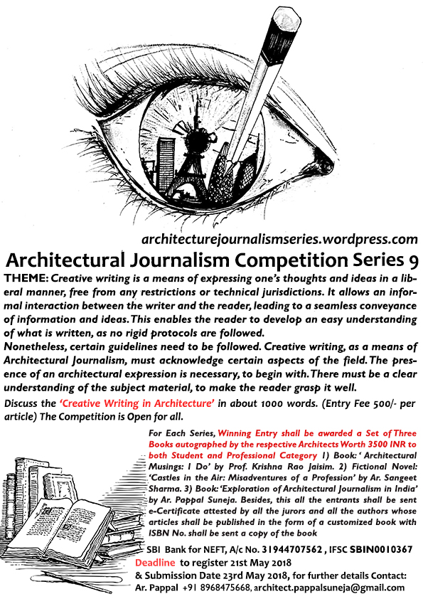 Architectural Journalism Competition Series, 2017-18 5