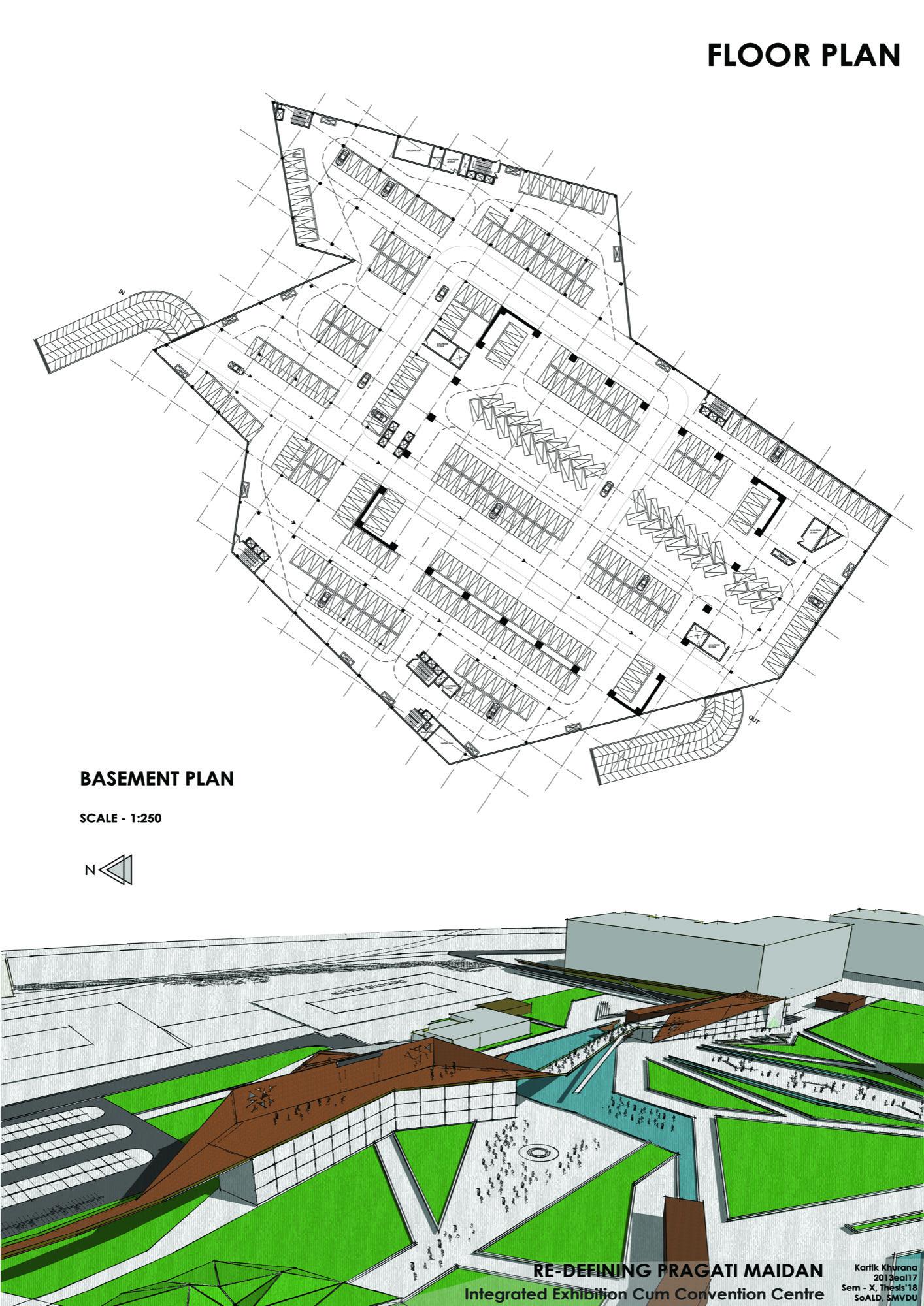B.Arch Thesis: Redefining Pragati Maidan, International Convention Cum Exhibition Centre, by Kartik Khurana 21