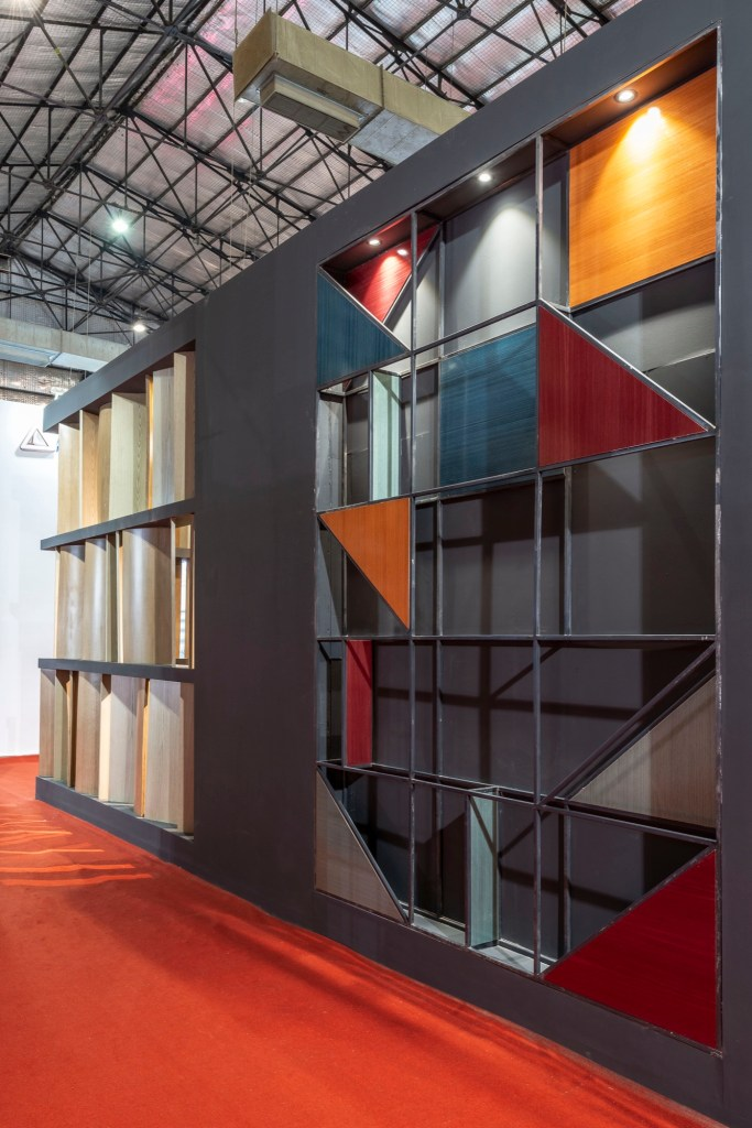 Exhibition Space at ACETECH, for Legend Ply and Veneers, by Spaces Architects @ka 9