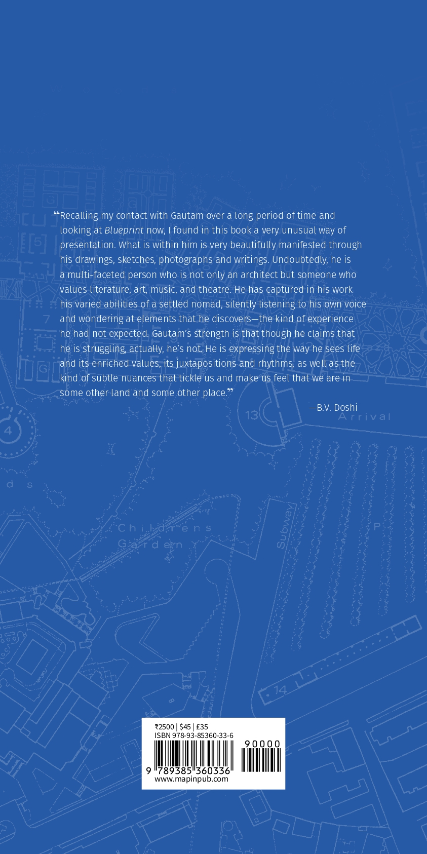 Book: Blueprint-The Works of Gautam Bhatia, Foreword by Himanshu Burte 3