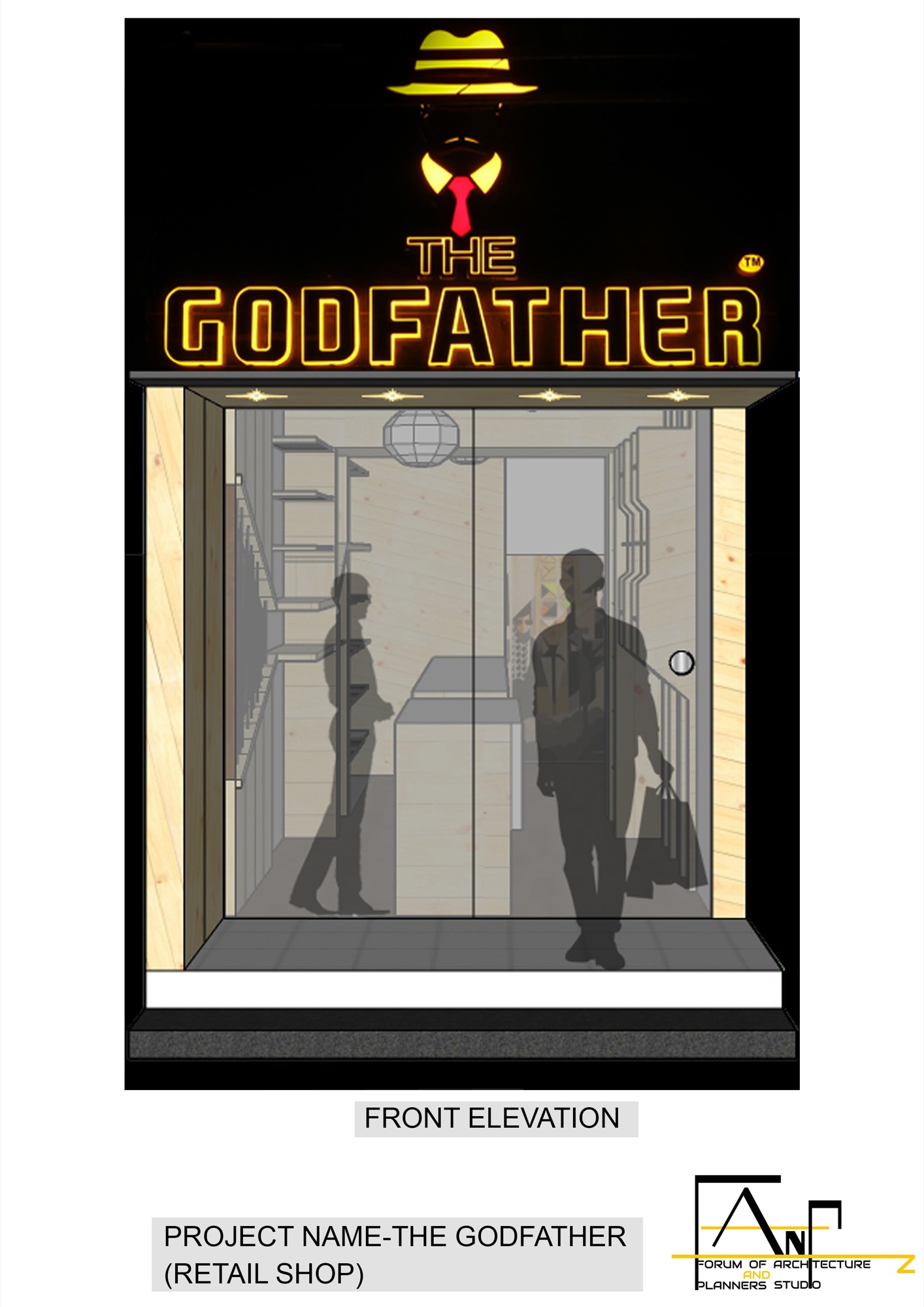 The Godfather Fashion Store at Nagpur, by The Forum of Architecture And Planners Studio (FANP STUDIO) 9