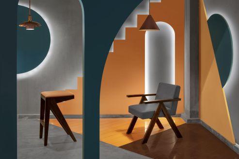 Unlocked Cafe - 32nd Milestone -The Geometrication - Renesa Architecture Design Interiors