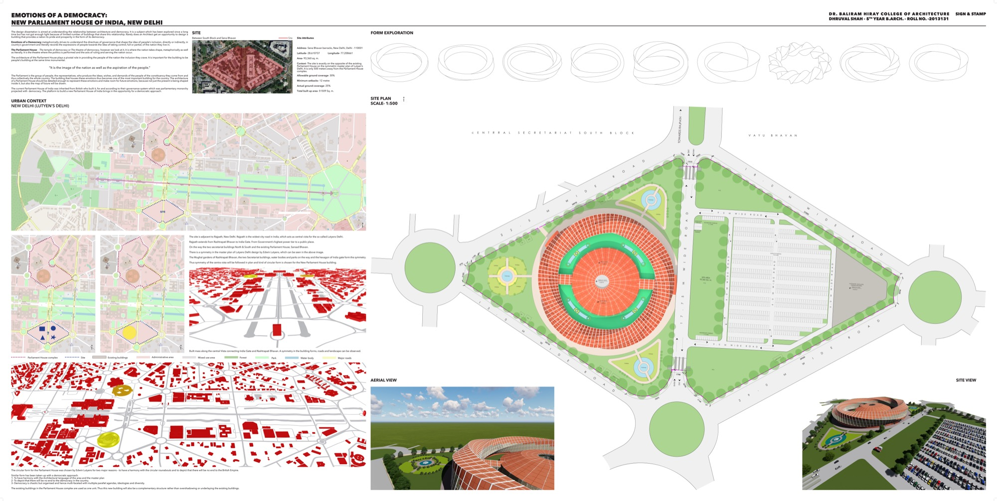 B.Arch Thesis: Emotions of a Democracy: New Parliament House of India, New Delhi Dhruval Shah 16