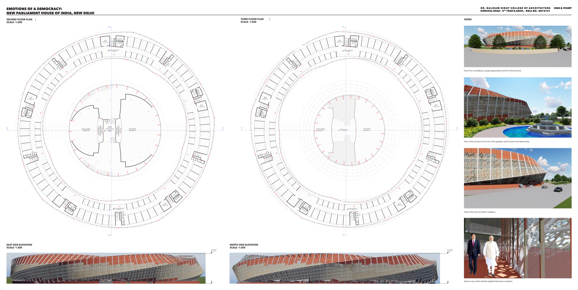 B.Arch Thesis: Emotions of a Democracy: New Parliament House of India, New Delhi Dhruval Shah 13