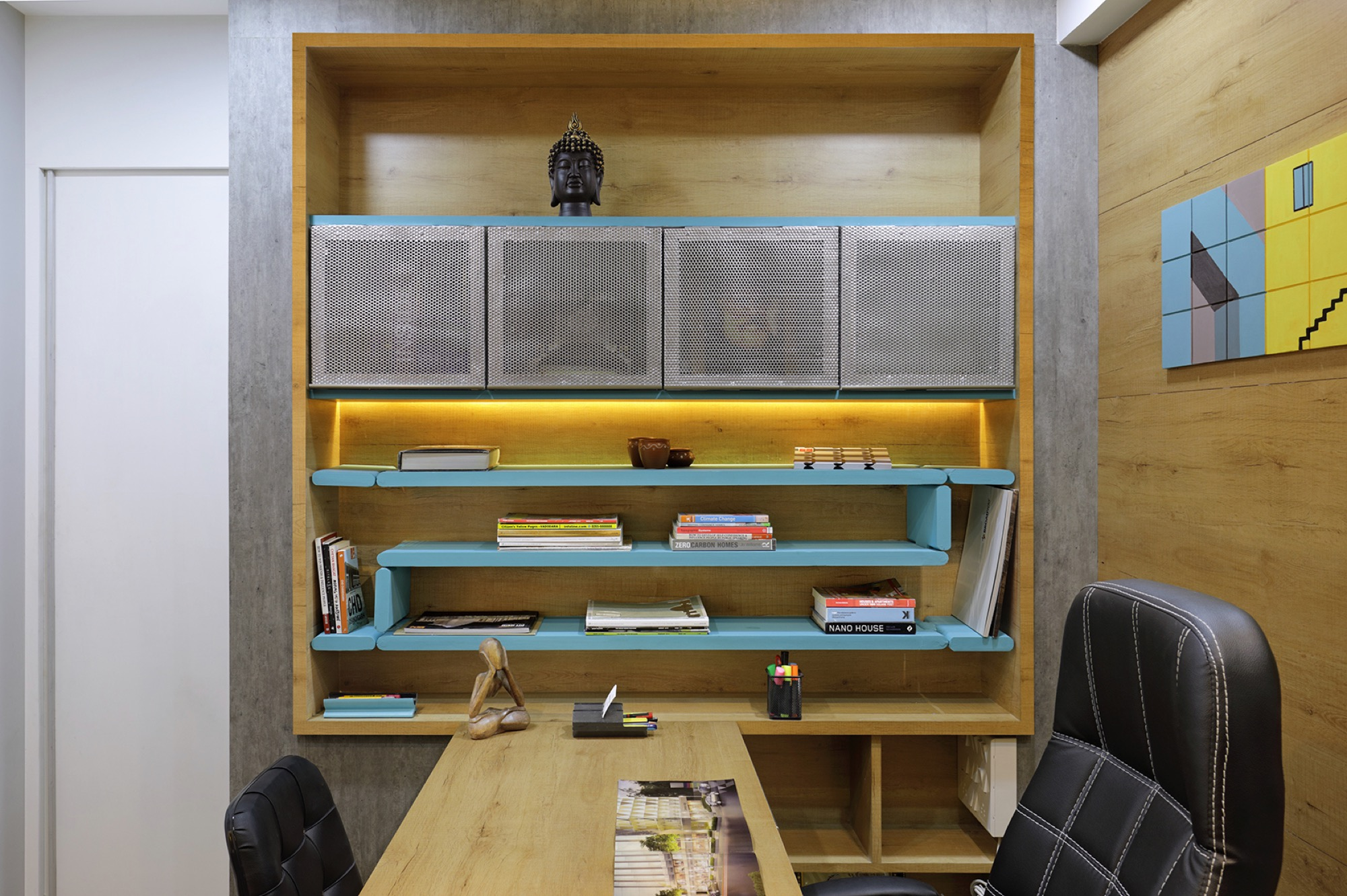 Adaptable furniture that defines the office space, designed by Manoj patel Design Studio 13