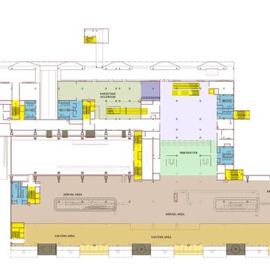 International terminal arrival level floor plan