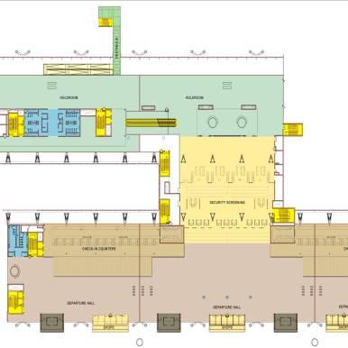 International terminal departure level floor plan