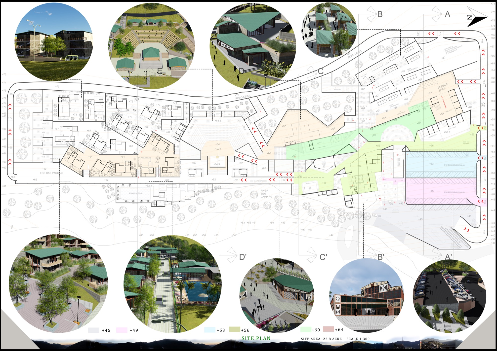 B.Arch Thesis: Eco-Tourist Hub of KHONOMA Village, By Shanjo A. Kithan, ITM University-Gwalior 16