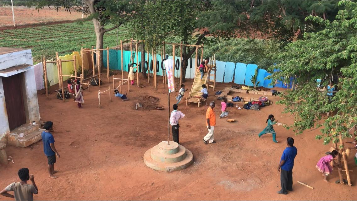 The Vernacular Playground in a remote village of Karanataka, by GrassrootED 7