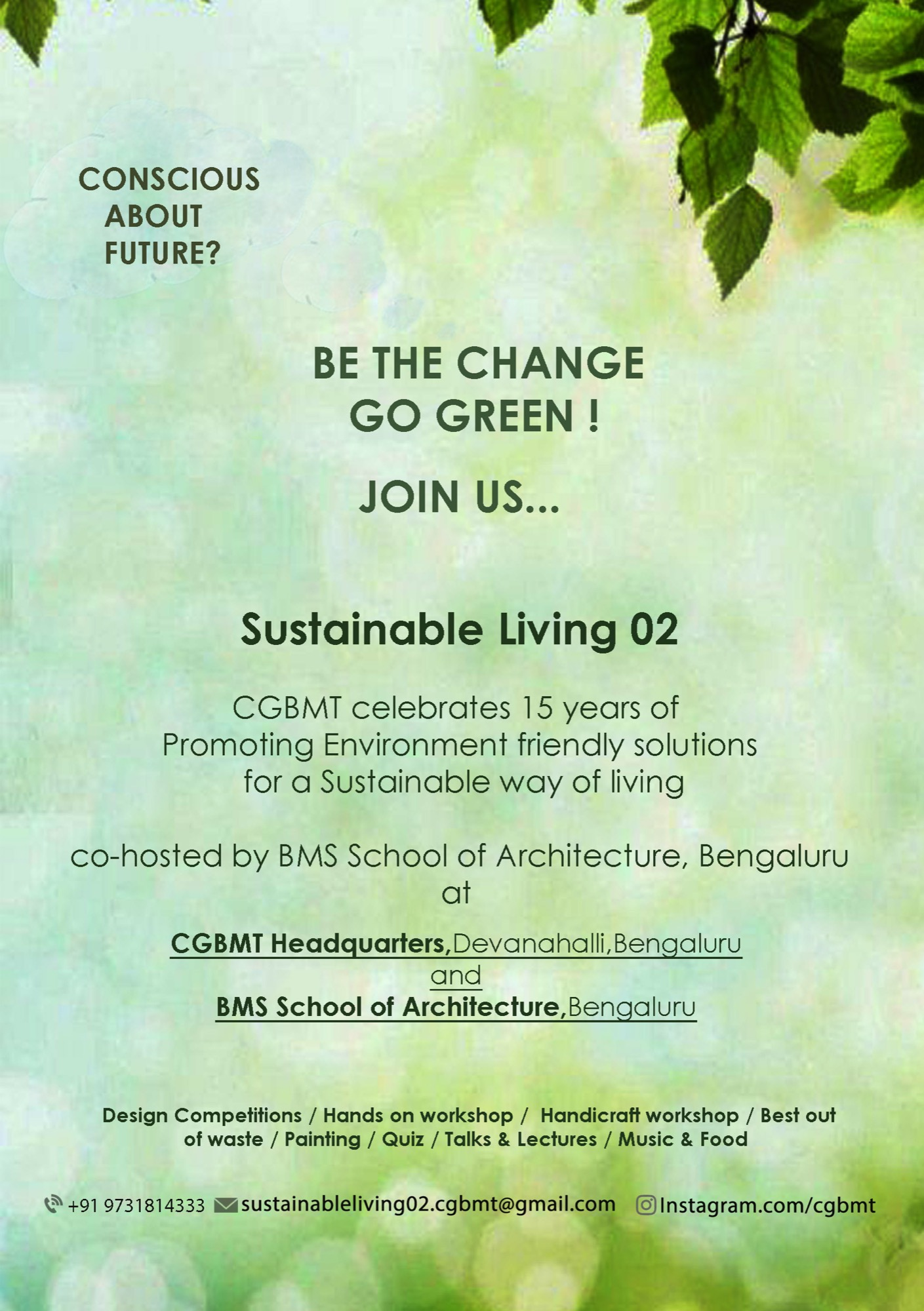 Sustainable Living-2, Event by Centre for Green Building Materials and Technology, Bangalore 3