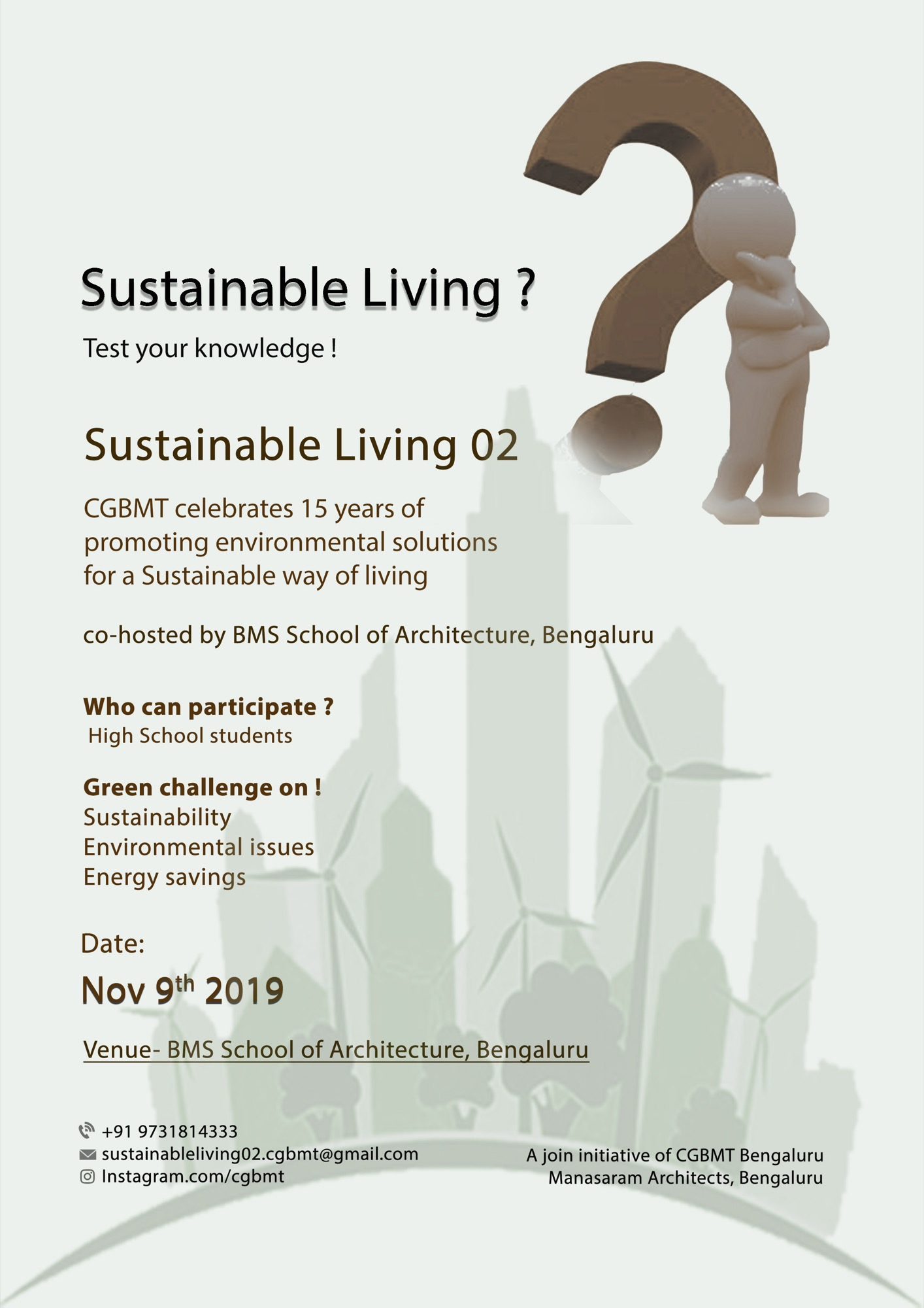 Sustainable Living-2, Event by Centre for Green Building Materials and Technology, Bangalore 17