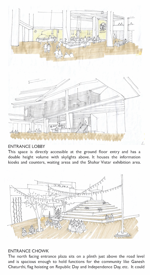 For People: Municipal Building for Satara, competition entry by S+Ps - Pinkish Shah and Shilpa Gore 7