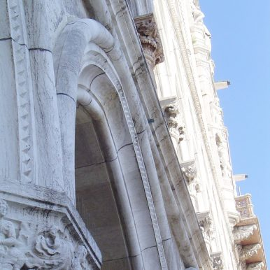 Looking up, Ducal Palace, Photograph by Anuradha Chatterjee, 2004