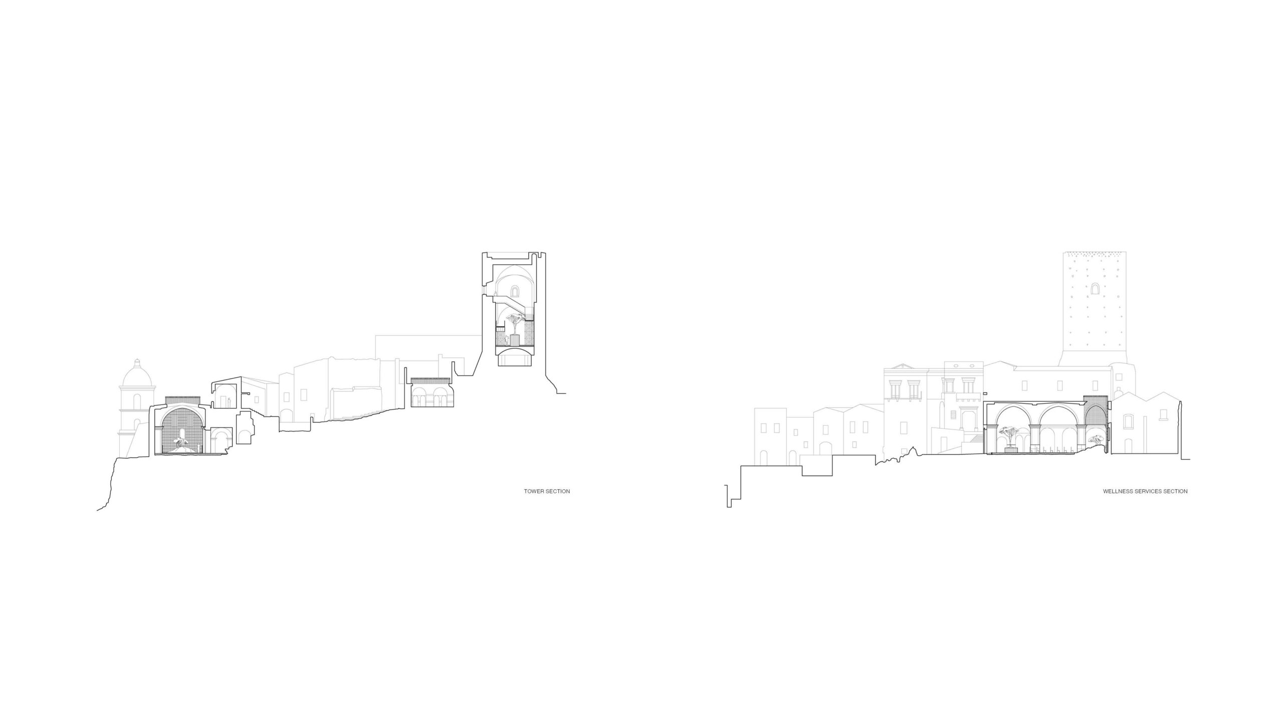 Unbuilt : TRACES - GHOST TOWN REFUGE, at Craco, Italy, by Claudio C. Araya, Yahya Abdullah 11