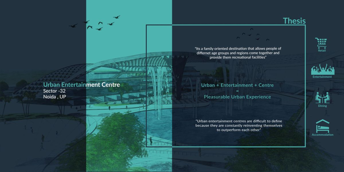B.Arch Thesis : URBAN ENTERTAINMENT CENTRE, at Noida by KUNAL LUTHRA 1