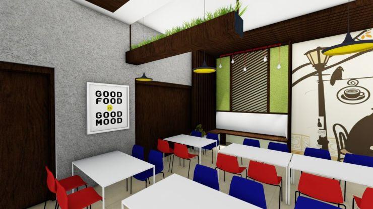 Hexa Louvred Cafe, at Gurugram, India, by ACad Studio