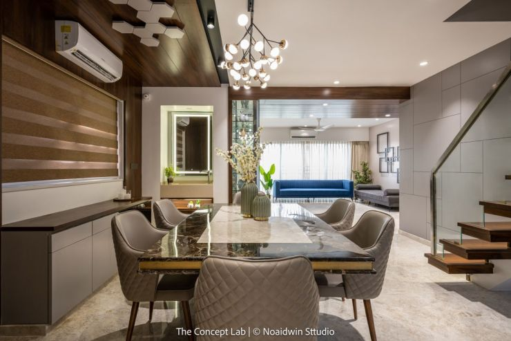 Penthouse By The River, at Dumas road, surat, by The Concept Lab 7