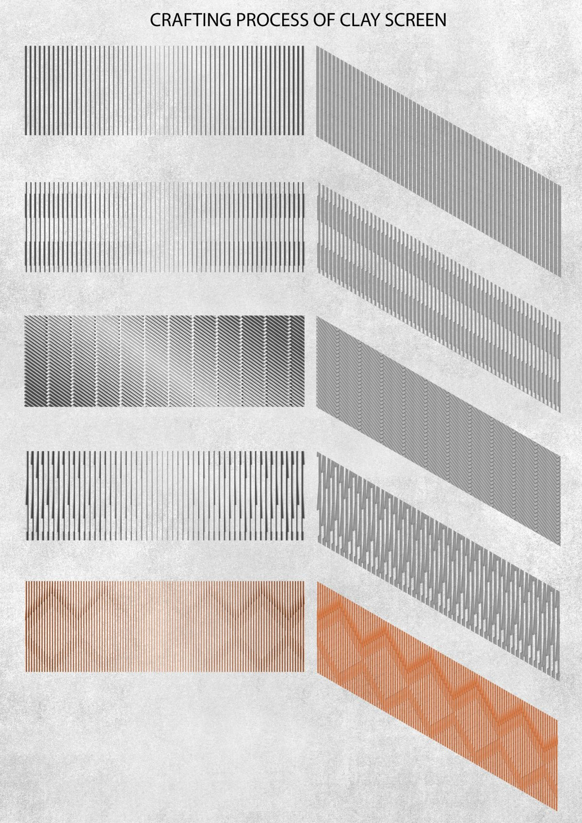 Clay roof tiles façade to minimize heat gain and has decorative function, at Vadodara, by Manoj Patel Design Studio 101