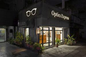|| चश्मा || Optics Express, Delhi by Sync Design Studio